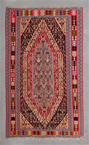 Sale 8480C - Lot 53 - Persian Sana Kordi 244cm x 140cm