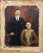 Sale 8636 - Lot 2083 - Artist Unknown - Portrait of a Couple, on Card