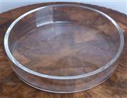 Sale 8650A - Lot 98 - An Orrefors heavy gauge large shallow bowl, Diameter 35cm.