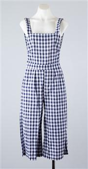 Sale 8685F - Lot 77 - A Haoduoyi blue and white chequered pair of overalls, as new with tag, size S 160/64A