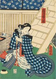 Sale 8777A - Lot 5012 - Kuniaki Utagawa (active c1844 - 1868) - 37 x 26cm (frame: 53 x 42cm)