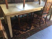 Sale 8822 - Lot 1290 - Sundries Ash Coloured Dining Table (L: 216cm)