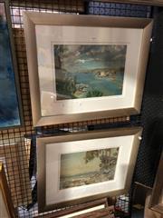 Sale 8861 - Lot 2069 - 2 Anna Moyes Paintings - Harbour Scenes, Oils, signed, 23.5x33.5cm & 23x32.5cm
