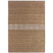 Sale 8918C - Lot 48 - Indian Nomadic Natural Carpet in Sand I, 160x230cm, Handspun Wool