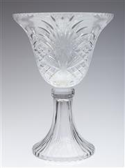 Sale 9052 - Lot 164 - Bohemia Crystal Cut Comport (H: 37cm, D: 26cm) (repaired)