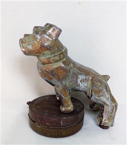 Sale 9142A - Lot 5071 - Mack Truck Hood Ornament - Brass Bulldog, c1970, h.15cm -