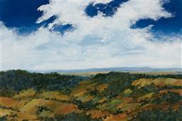 Sale 9170A - Lot 5055 - PETER MCQUEENEY (1941 - ) Landscape oil on board 59 x 88.5 cm (frame: 67 x 97 x 2 cm) signed lower left