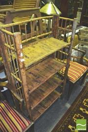 Sale 8371 - Lot 1059 - Bamboo Shelving Unit