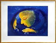 Sale 8420 - Lot 522 - Charles Blackman (1928 - ) - Song - Garden, Orpheus Suite, 1999 64 x 86cm