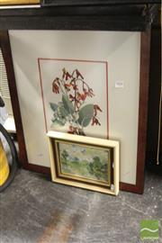 Sale 8468 - Lot 2061 - 2 Original Artworks by Various Artists - Lake Scene; Still Life (various sizes/framed)