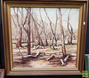 Sale 8474 - Lot 2008 - Thomas Sheppard - Dry Swamp 60 x 64.5cm