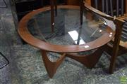 Sale 8550 - Lot 1073 - G-Plan Atmos Circular Coffee Table with Glass Top