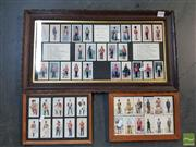 Sale 8548 - Lot 2100 - 3 Framed Sets of Cigarette Cards incl Uniforms of the British Army