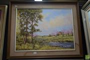 Sale 8569 - Lot 2023 - Barbara Black Spring Blossom Oil on Board, 45 x 60cm