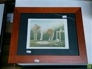 Sale 8582 - Lot 2111 - A.W. Horse with Naked Man, watercolour, SID93LR