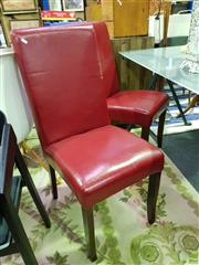 Sale 8620 - Lot 1102 - Pair of Red Leather Chairs