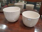 Sale 8676 - Lot 1336 - Pair of Italian Bagno Graduated Plant Pots