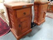 Sale 8822 - Lot 1136 - Pair of Timber Bedsides