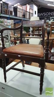 Sale 8375 - Lot 1095 - Victorian Mahogany & Inlaid Armchair