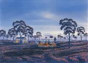 Sale 8504 - Lot 577 - Jack Absalom (1927 - ) - Cooking the Yabbies, 1990 45 x 68cm