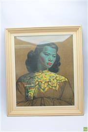 Sale 8644 - Lot 50 - Tretchik off Framed Print of Chinese Girl