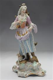 Sale 8662 - Lot 76 - Late 19th Century Meissen Figure of a Lady