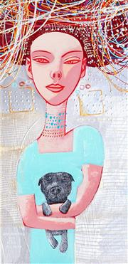 Sale 9009A - Lot 5001 - Constantine Popov (1965 - ) - Puppy Love 60 x 29 cm (frame: 79 x 49 x 5 cm)