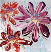 Sale 9034A - Lot 5053 - Constantine Popov (1965 - ) - Floral Trio 59 x 59 cm (79 x 79 x 5 cm)