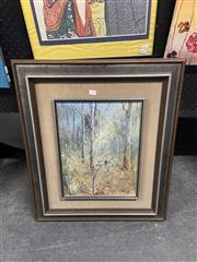 Sale 9061 - Lot 2059A - Patrick Shirvington Magpie At Kulnua oil on board, 68 x 58cm (frame) signed