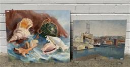Sale 9127 - Lot 2098 - Beverley Symonds (2 works) Beach Collection & Rozelle Bay oils on canvas on board 51 x 61cm; 41 x 51cm