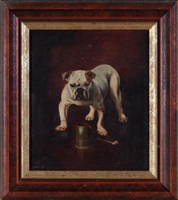 Sale 9190H - Lot 77 - Lysbeth Ash, bulldog, oil on canvas, signed and dated lower left, 33cm x 20cm