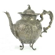 Sale 8314 - Lot 62 - German Silver 800 Standard Teapot
