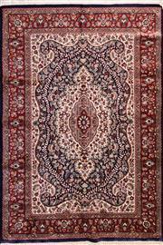 Sale 8447C - Lot 27 - Indian Silk & Wool 225cm x 155cm