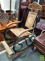 Sale 8495F - Lot 1024 - Metal Framed Rocking Chair