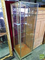 Sale 8539 - Lot 1065 - Early 20th Century Chrome Plated Tall Shop Display Cabinet, on claw feet