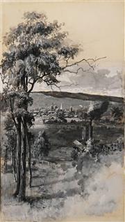 Sale 8595 - Lot 2009 - Albert Fullwood (1863 - 1930) & William Mcleod (1850 - 1929) - Cottamundra (Original Illustration in Picturesque Atlas of Australasi...