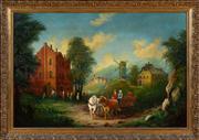 Sale 8630A - Lot 47 - After Gherardo Poli - Continental Rustic Scene 59 x 90cm