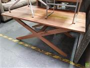 Sale 8637 - Lot 1060 - Timber Coffee Table on X-Form Base