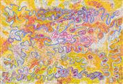 Sale 8696 - Lot 526 - Kuntjil Cooper (1920 - ) - Minyma Kutjara, 2007 160 x 110cm (stretched and ready to hang)