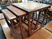 Sale 8822 - Lot 1024 - G Plan Teak Nest of Tables - one tiled top