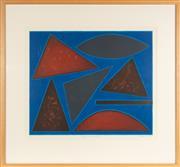 Sale 8770 - Lot 3 - John Coburn (1925-2006) - Edition 6 /45, Jazz Series, Savoy Blues, total frame size 80cm x 87cm