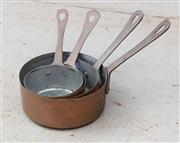 Sale 8866H - Lot 70 - A group of four copper saucepans of diminutive size