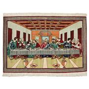 Sale 8911C - Lot 44 - Persian Silk Ghom, Rare Last Supper Scene Rug, 148x100cm, 100% Pure Persian Silk