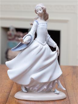 Sale 9190H - Lot 53 - A Lladro porcelain figure of Cinderella height 25cm