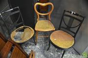 Sale 8310 - Lot 1599 - Pair of Chairs & Another (rattan damaged)