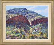 Sale 8374 - Lot 585 - Reginald (Reg) Campbell (1923 - 2008) - Foothills of the Mountain 60 x 75cm