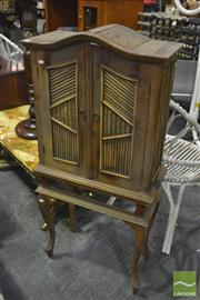Sale 8398 - Lot 1066 - Indonesian Two Door Cabinet on Stand (no drawer)