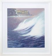 Sale 8420 - Lot 518 - Martine Emdur (1967 - ) - Untitled (Night Scene and Tempest Waves) 72 x 68cm