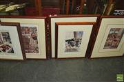 Sale 8429A - Lot 2080 - Artworks (2) incl an Aquatint Etching of Two Ibis signed Rourke 79 & a Print (AF)
