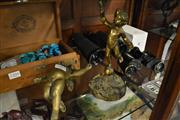Sale 8448 - Lot 28 - Brass Cherubic Desk Ornaments